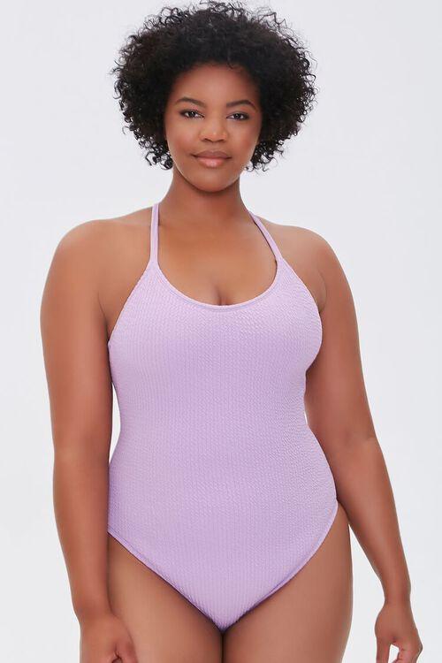 Plus Size Crisscross One-Piece Swimsuit, image 1