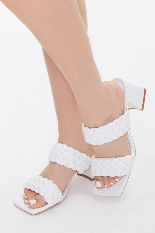 Braided Square-Toe Block Heels, image 1