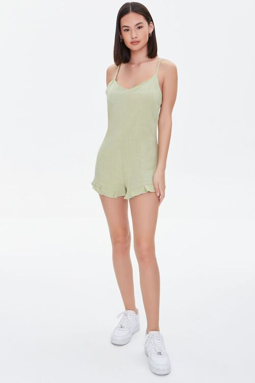 Lace-Up Cami Romper, image 4