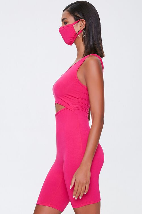 Cutout Romper & Face Mask Set, image 2