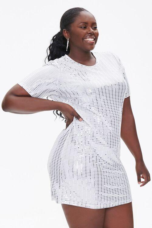 Plus Size Sequin Mini Dress, image 1