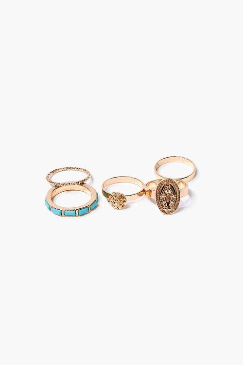 Faux Turquoise Ring Set, image 1