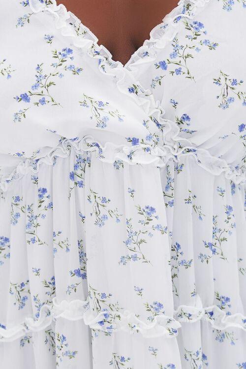 Plus Size Floral Print Chiffon Dress, image 5