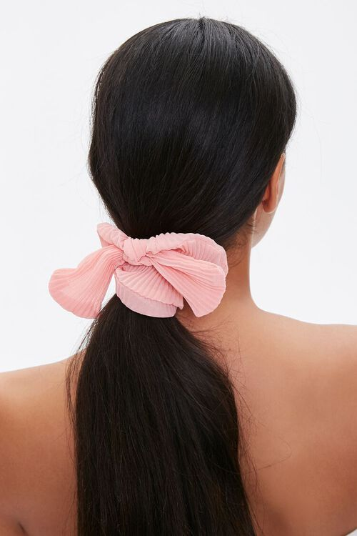 Ribbed Bow Scrunchie, image 1