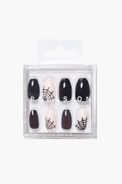 BLACK/MULTI Spiderweb Graphic Press-On Nails, image 2