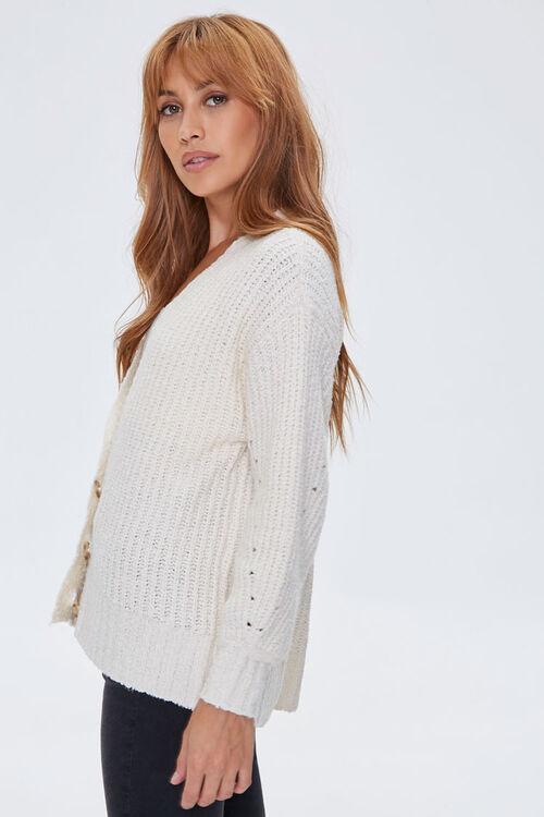 Balloon-Sleeve Cardigan Sweater, image 2