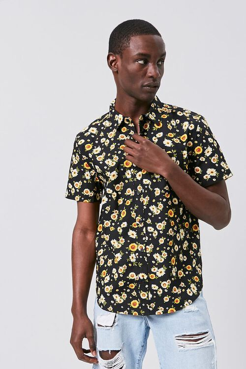 Fitted Daisy Print Shirt, image 6