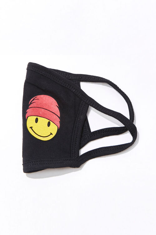 BLACK/MULTI Men Happy Face  Mask, image 2