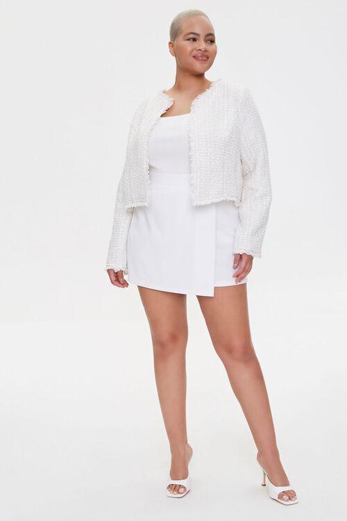 Plus Size Distressed Tweed Blazer, image 4
