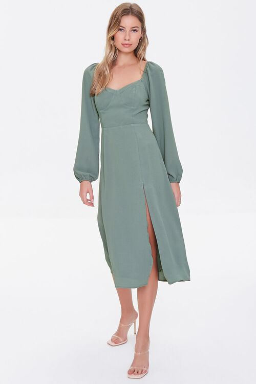 DARK GREEN Recycled Sweetheart Dress, image 4