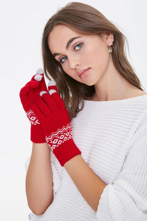 Fair Isle Touch-Screen Gloves, image 1