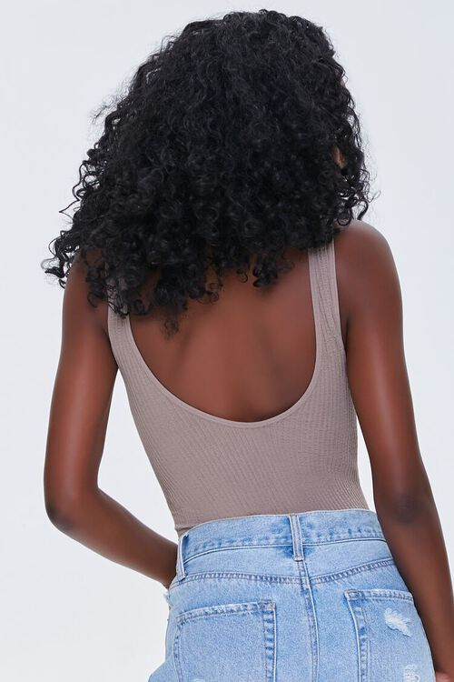 CAPPUCCINO Seamless Ribbed Knit Bodysuit, image 3