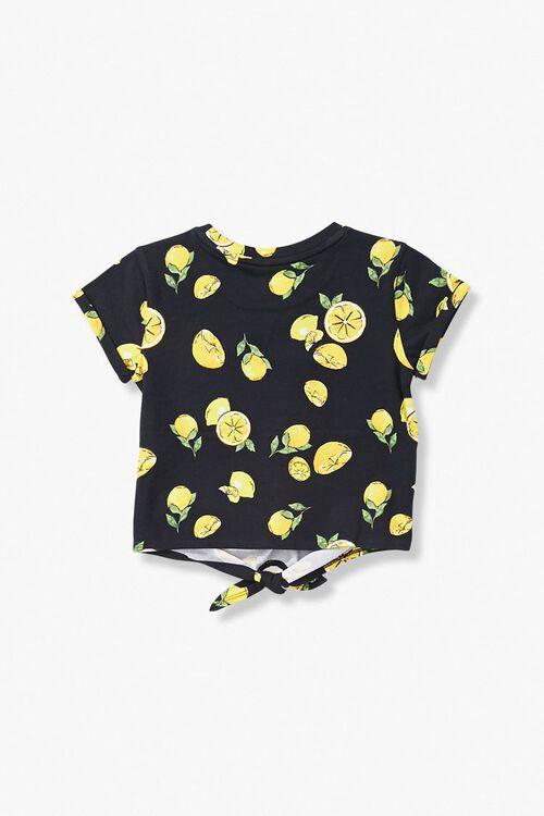 Girls Lemon Print Tee (Kids), image 2