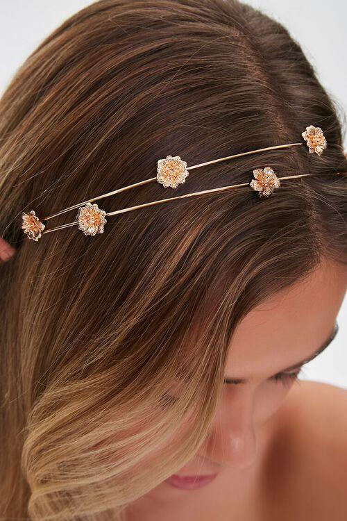 Floral Charm Metal Headband, image 2