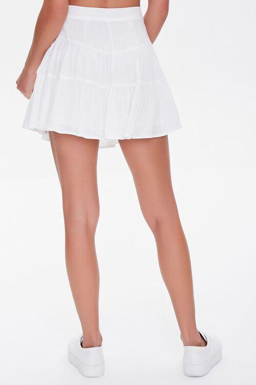 WHITE Button-Front Mini Skirt, image 4