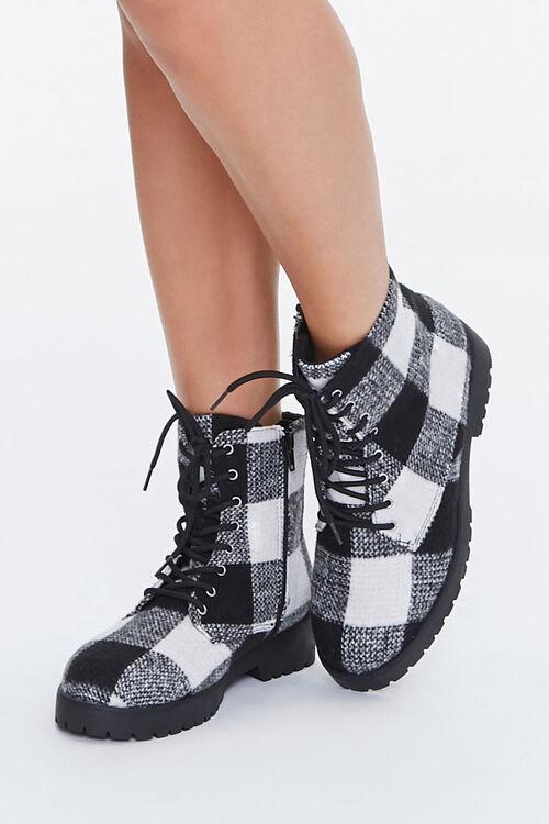 Plaid Combat Boots, image 1