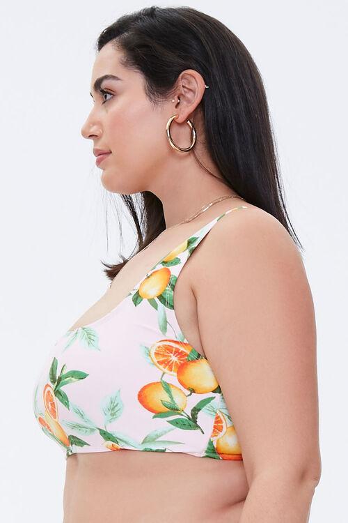 Plus Size Orange Bralette Bikini Top, image 2