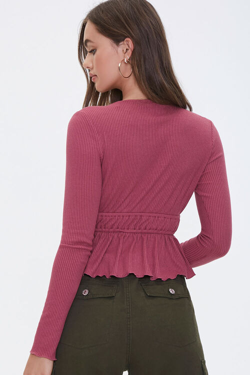 Ribbed Tie-Front Top, image 3