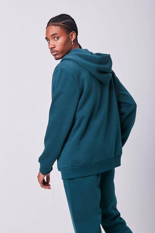 GREEN Fleece Zip-Up Hoodie, image 3