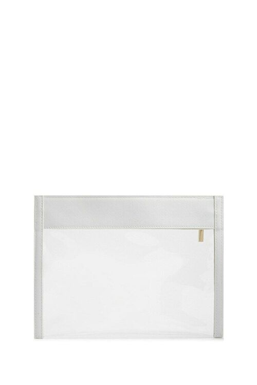 WHITE Transparent Zippered Pouch, image 4