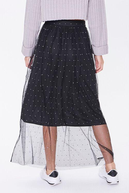 Faux Gem Mesh Midi Skirt, image 4