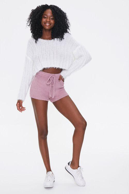 Sweater-Knit Drawstring Shorts, image 5