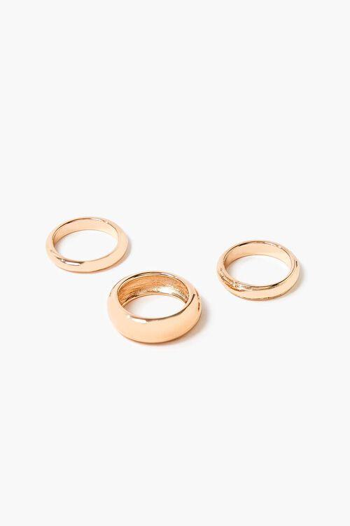 GOLD High-Polish Ring Set, image 1