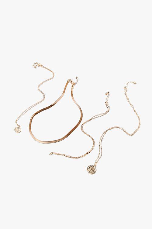 Multi-Chain Pendant Necklace Set, image 1