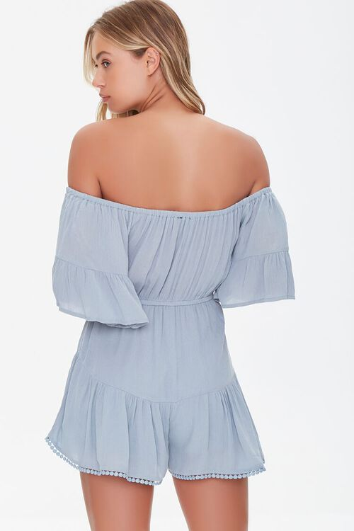 Off-the-Shoulder Ruffle Romper, image 3