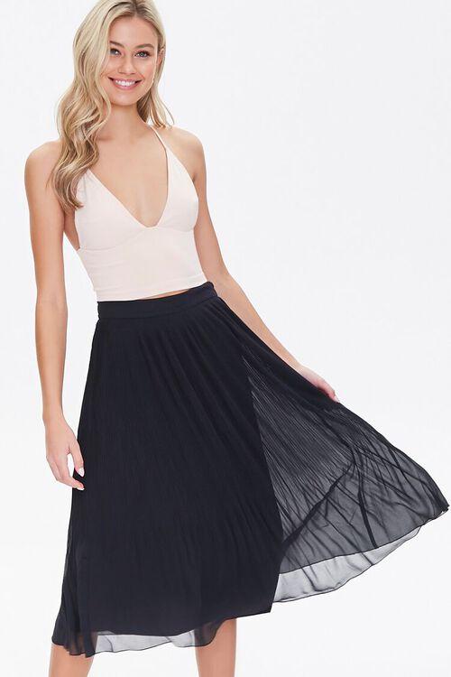 Knee-Length Pleated Skirt, image 1