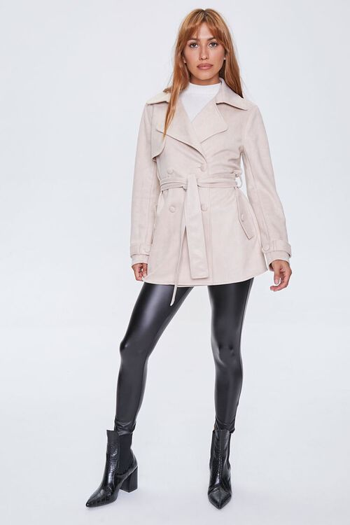 Faux Suede Double-Breasted Jacket, image 4
