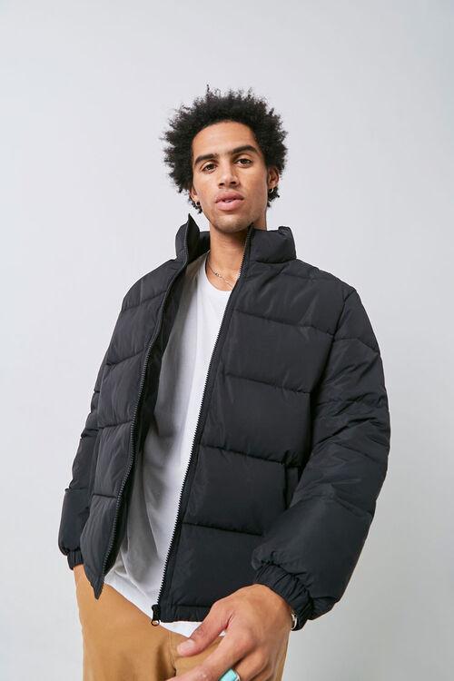 Zip-Up Puffer Jacket, image 1