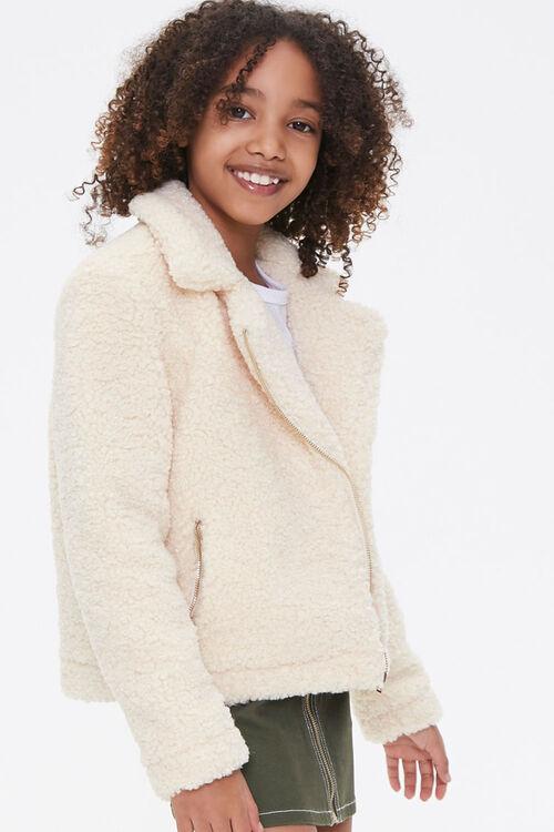 Girls Faux Shearling Jacket (Kids), image 2