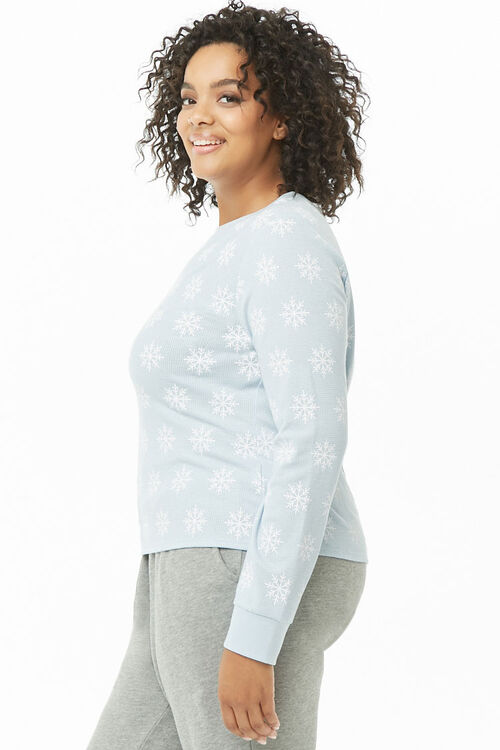 Plus Size Snowflake Print Thermal, image 3