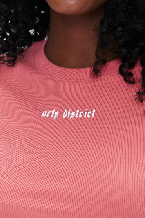 ROSE/WHITE Arts District Graphic Ribbed Tee, image 5