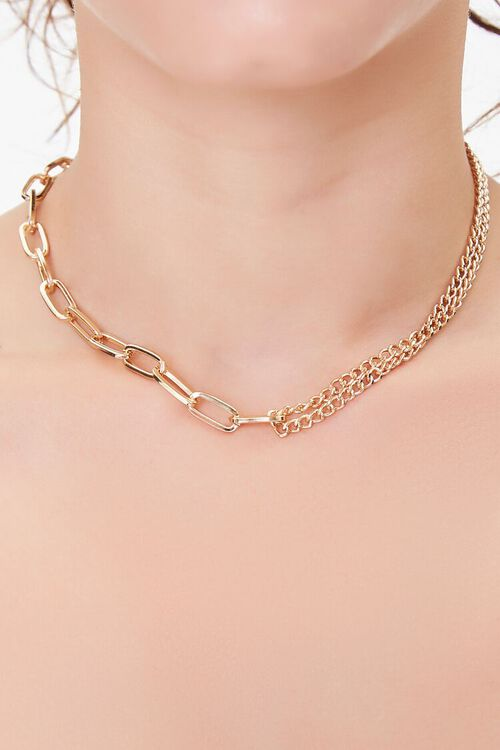 GOLD Anchor Chain Necklace, image 1