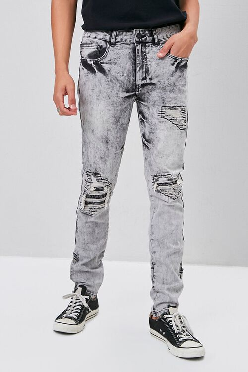 Distressed Snap-Button Jeans, image 2