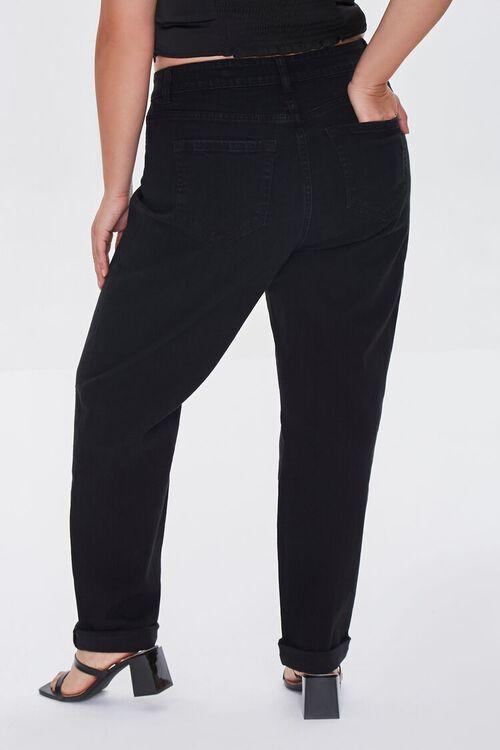 BLACK Plus Size Premium Boyfriend Jeans, image 4