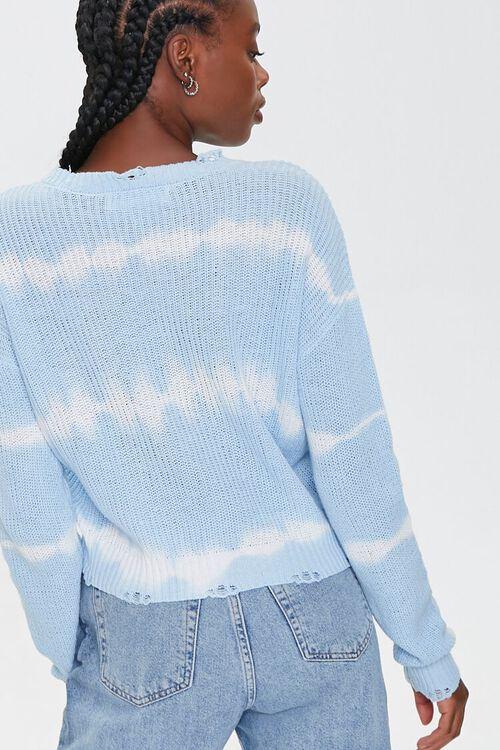 BLUE/CREAM Striped Tie-Dye Sweater, image 3