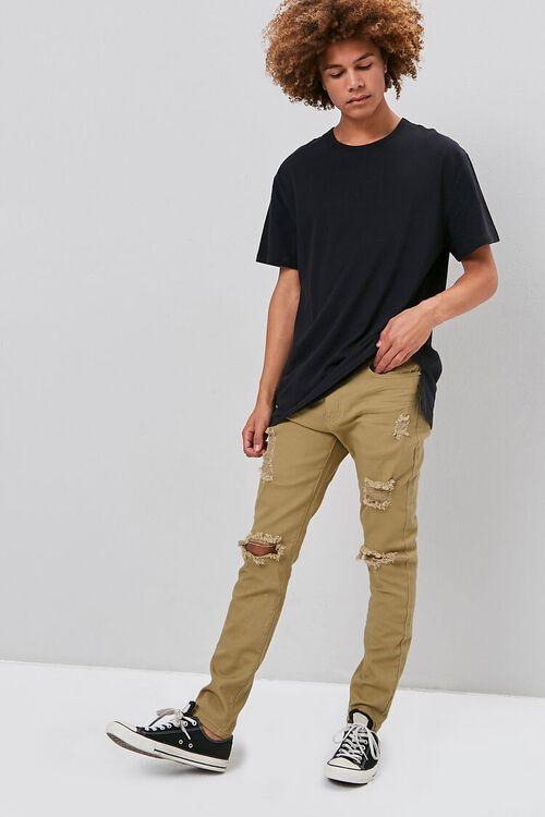 KHAKI Distressed Skinny Jeans, image 1