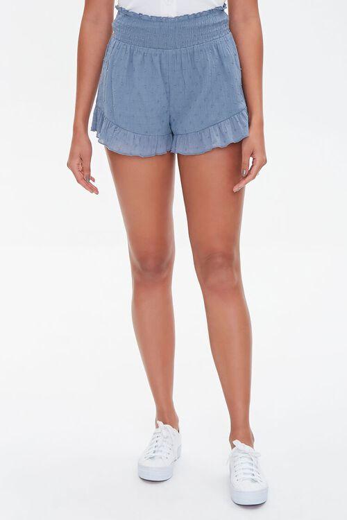 Ruffle-Trim High-Rise Shorts, image 2