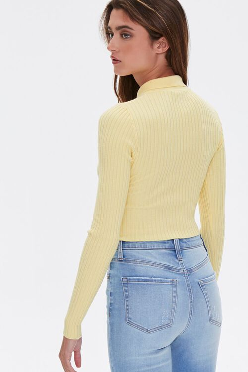 Zip-Front Cropped Sweater, image 3