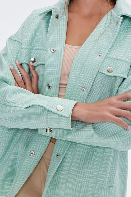 Plaid Button-Up Shacket, image 5