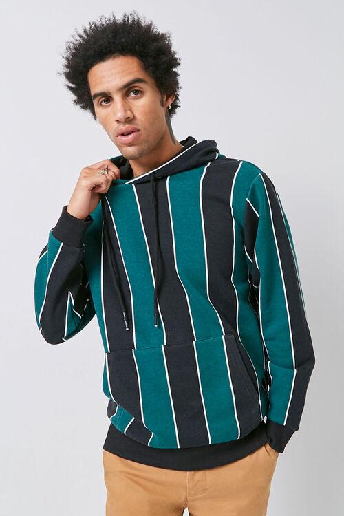 Striped Fleece Hoodie, image 5