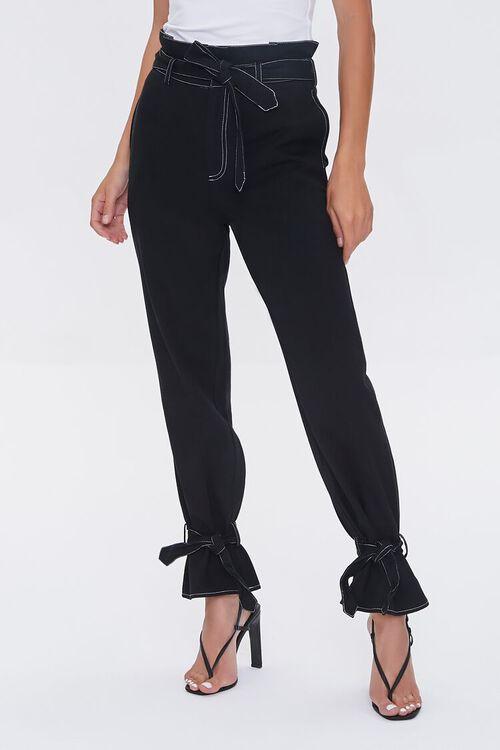 Paperbag Ankle-Tie Pants, image 2