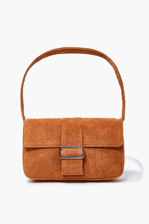 BROWN Corduroy Shoulder Bag, image 5