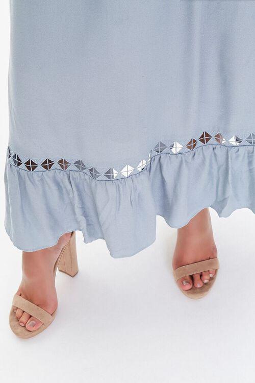 Strapless Ruffle-Trim Maxi Dress, image 6