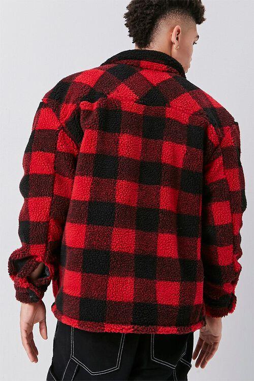 Faux Shearling Buffalo Plaid Jacket, image 3