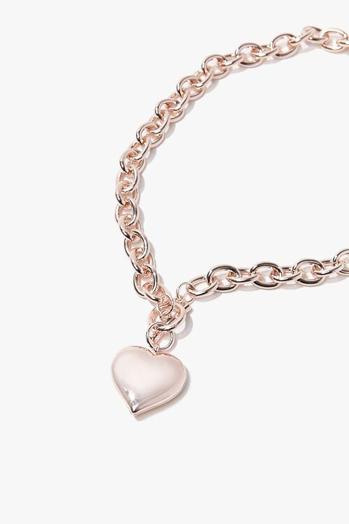 Heart Pendant Toggle Necklace, image 2