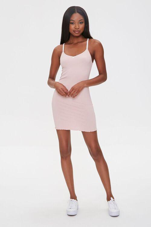 Ribbed Lettuce-Edge Mini Dress, image 4